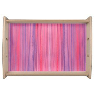 Striped Serving Tray | Watercolor Home Decor