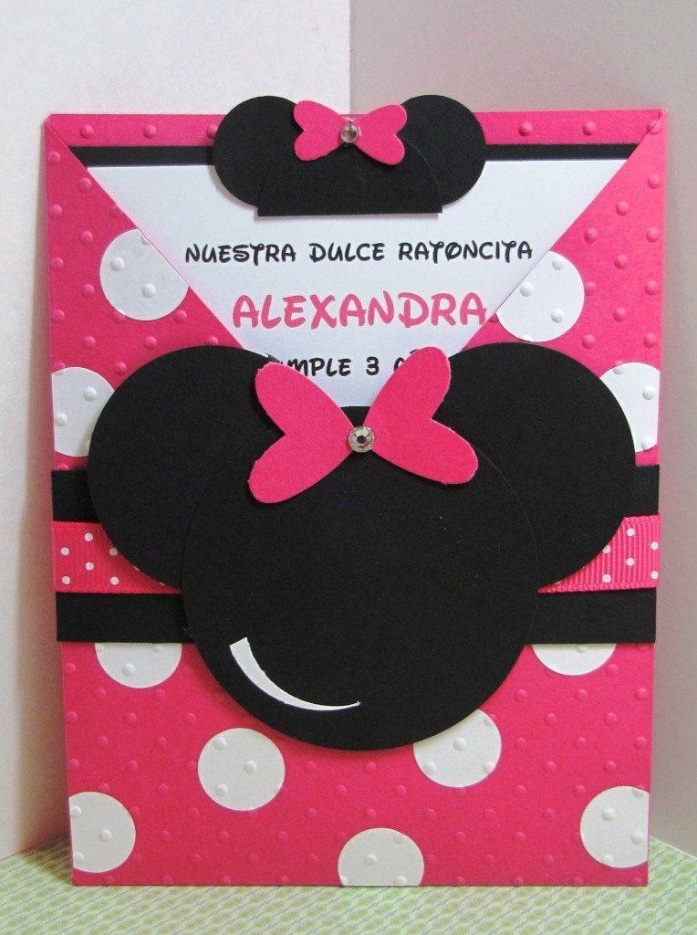 Minnie Mouse CrissCroos Birthday Invitation by MaddysInvitations on