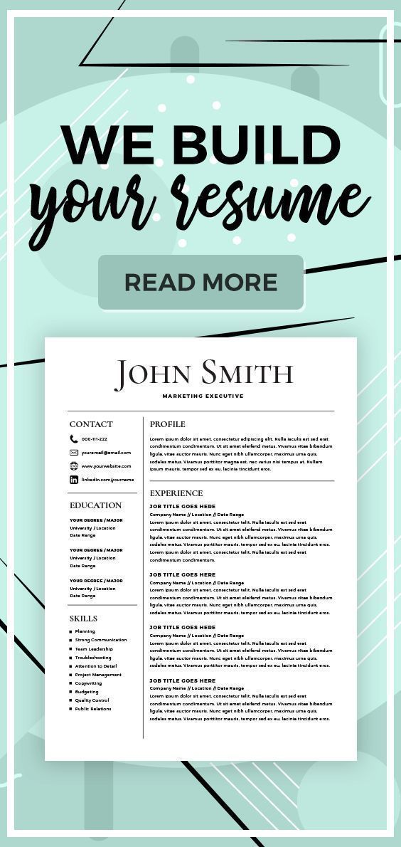 Resume Builder Create a Resume Resume Services Make