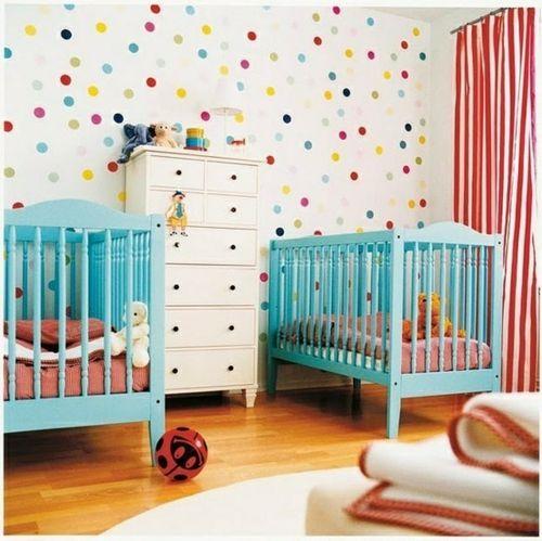 Fresh Wandmuster Ideen wanddekoration geometrisch formen babyzimmer