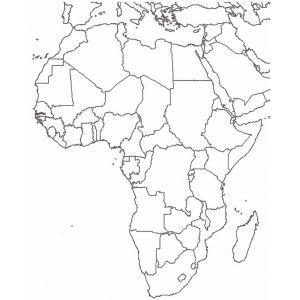 Cartina Sud Africa Da Stampare.Disegno Di Cartina Africa Da Colorare Per Bambini Gratis Disegnidacolorareonline Com Mappa Africa Immagini