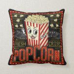 Movie Theatre Marquee Home Cinema Popcorn Throw Pillow | Zazzle.com