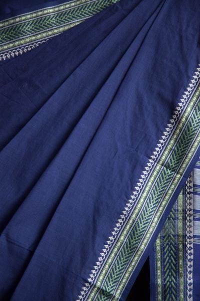 Blue Begumpuri Saree