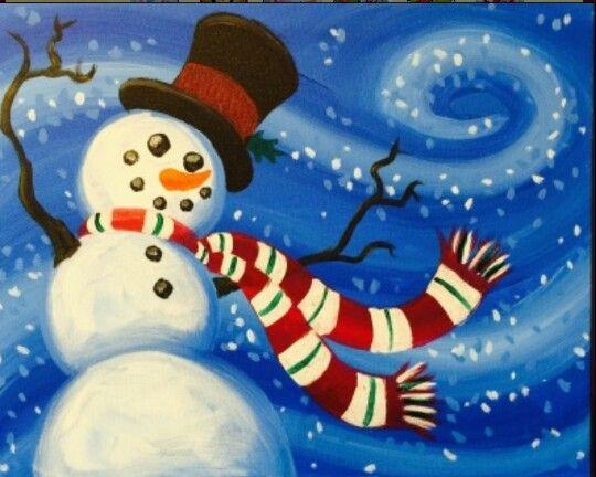 Pin By Samantha Wilson On Canvas Fun Christmas Canvas Christmas Paintings Christmas Art