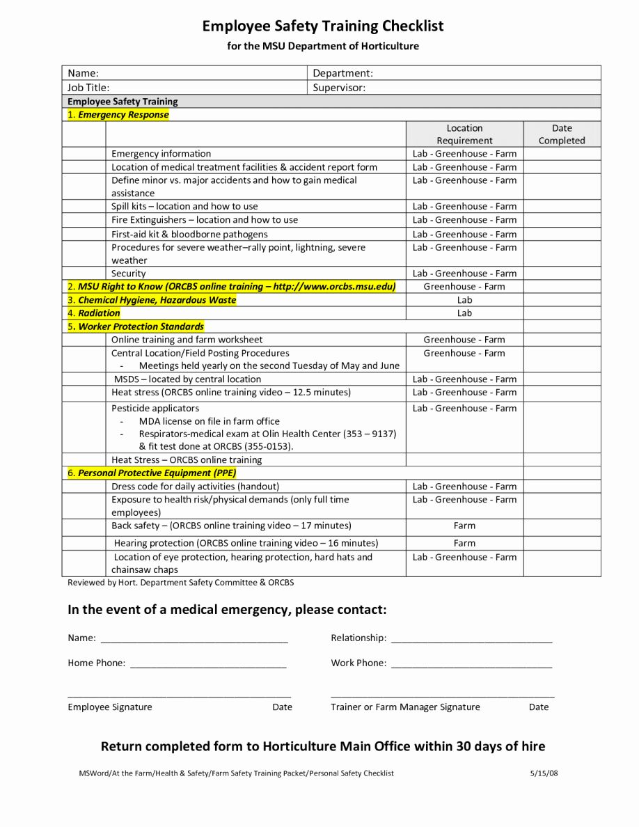 Training Checklist Template Excel New New Employee Checklist Templates Letter Examples Checklist Template Checklist Trading Card Template Training checklist template excel free