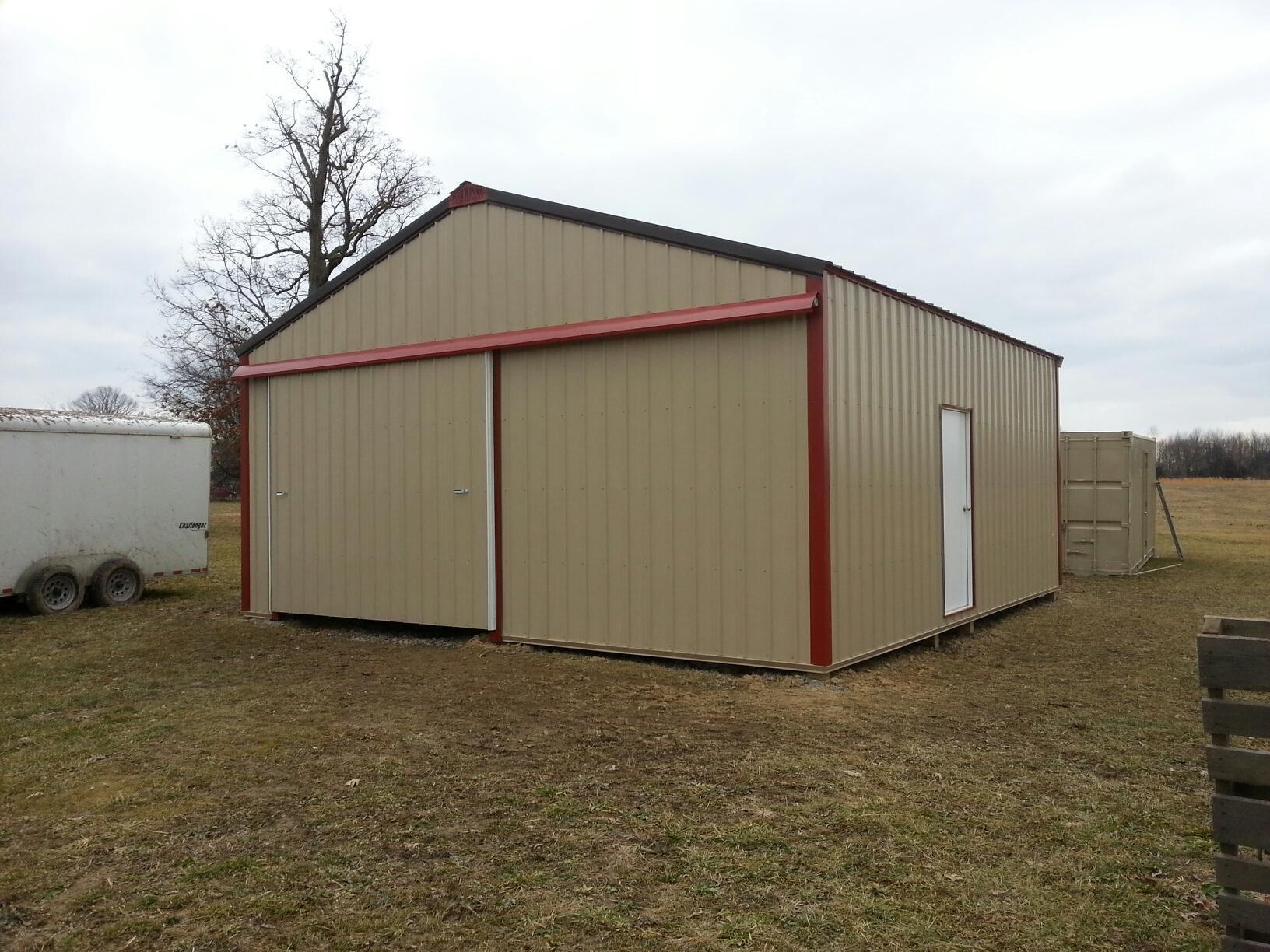 24x24x10 Pole Barn Www Nationalbarn Com Pole Barn Post Frame Building Diy Pole Barn