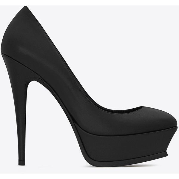 Saint Laurent Classic Tribute 105 Pump ($930) ❤ liked on Polyvore featuring shoes, pumps, high heel pumps, high heel platform shoes, yves saint laurent, platform stiletto pumps and high heel stilettos