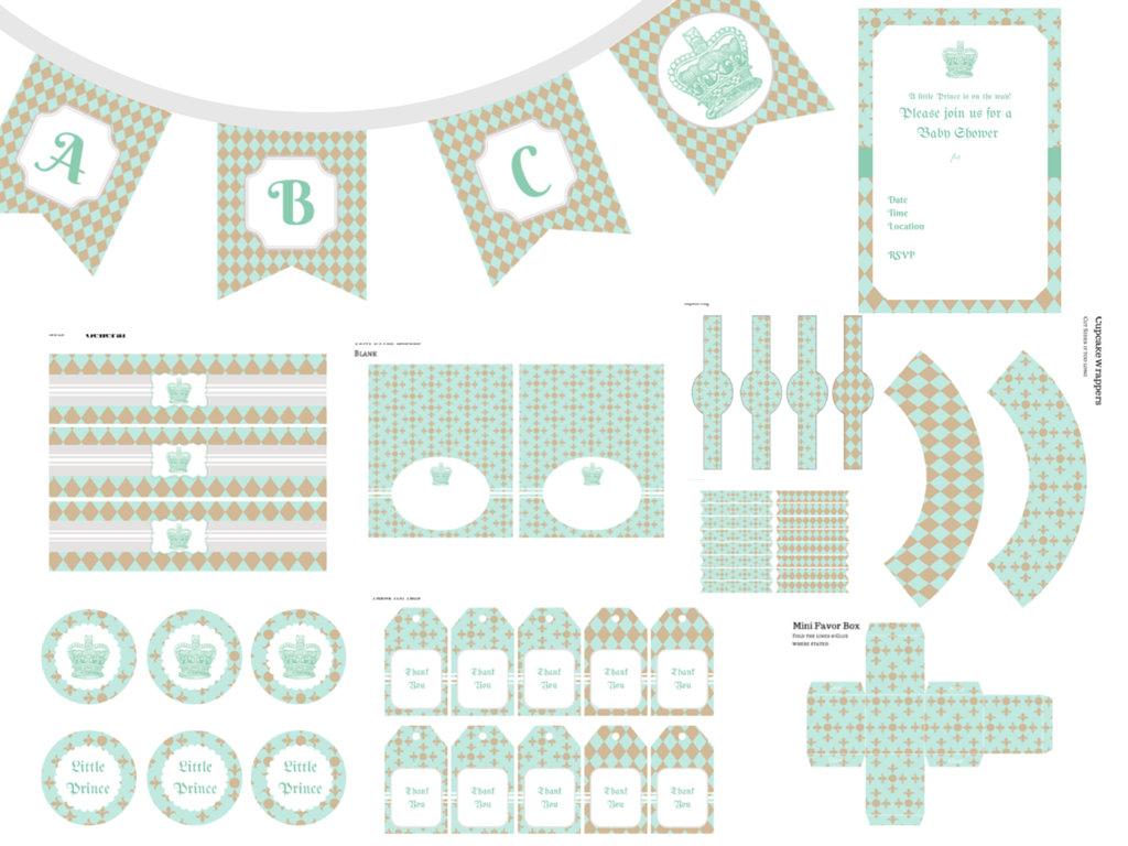 little prince baby shower decoration printable | boy shower ideas ...