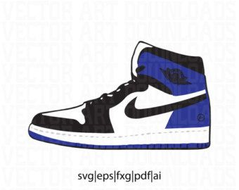 buy online 86977 4e5e9 Air Jordan 1 Fragment Vector in SVG, DXF, PDF, Eps, ai format download