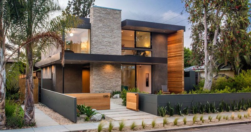 a new contemporary home arrives on this street in venice california rh pinterest com