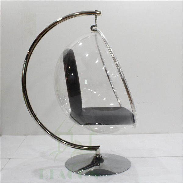 indoor hanging egg chair with stand wrought iron table and 4 chairs replica clear acrylic bubble buy cheap product