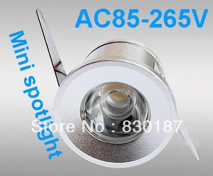 Mini 1W LED spotlight AC85 265V Free shipping ceiling wine cooler