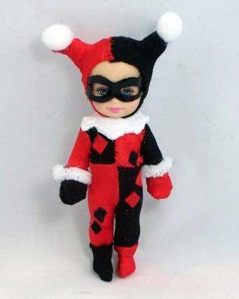 Kelly doll as Harley Quinn