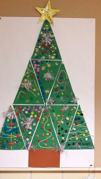 Group Christmas Tree Project Christmas Tree Crafts Christmas Kindergarten Christmas Art