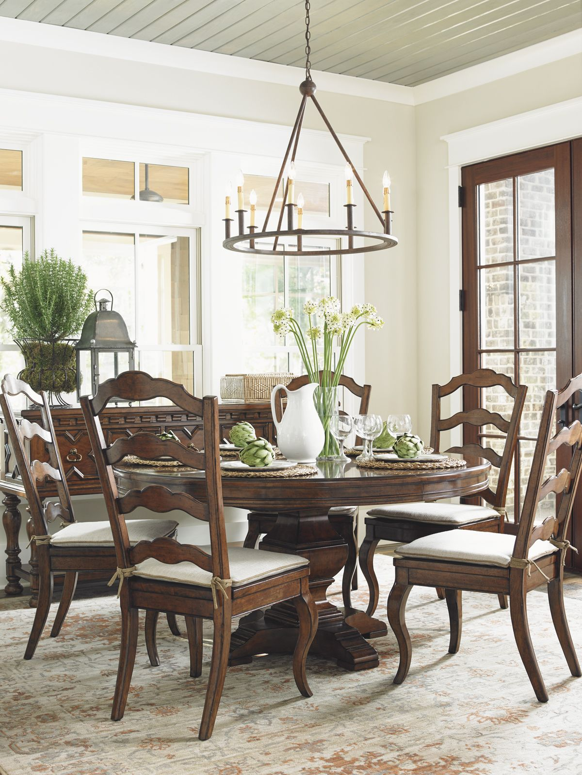 "Coventry Hills"" Ridgeview Round Dining Table"