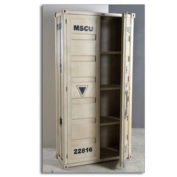 Uudella merikonteista idean saaneella ja niitä kunnioittavan HIGHCUBE-sarjamme persoonallinen kaappi. Nyt sinulla on mahdollisuus integroida tämä autenttinen tyyli sisustukseesi trendikkäänä yksittäisenä kalusteena. Kaappi on valmistettu metallista ja siinä on kaksi ovea.
