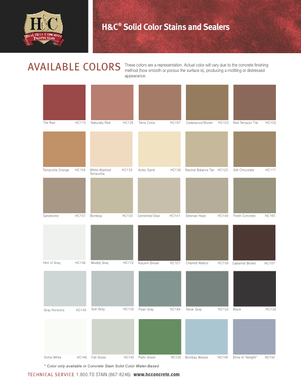 Sherwin Williams Solid Concrete Stain Colors Colorpaints Co