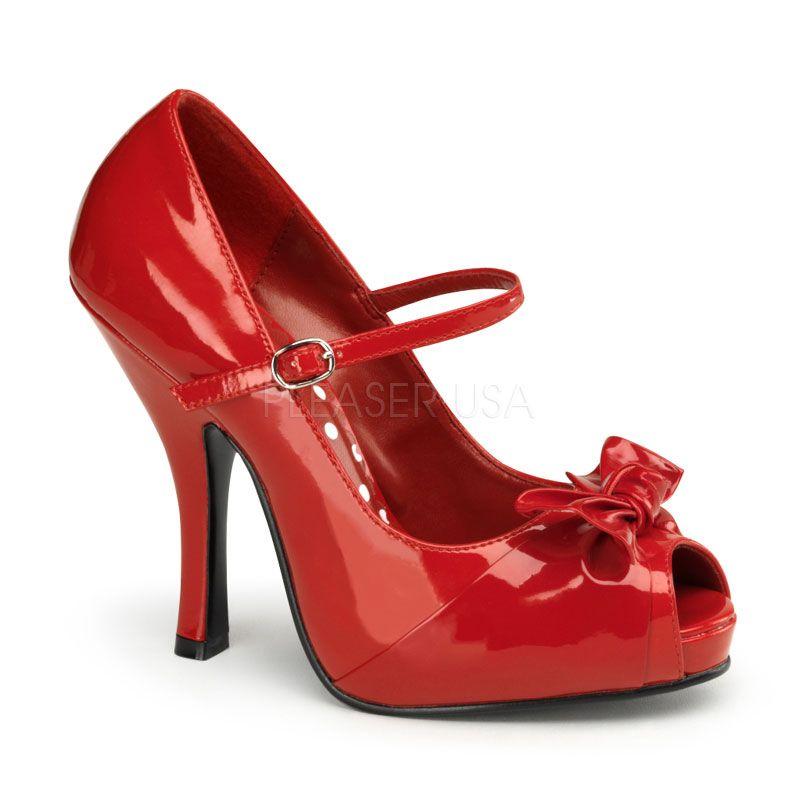Chaussures Cru Rouge Pleaser Femmes Cutiepie rrVIZoF