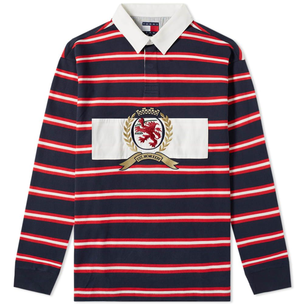 986a0486 TOMMY JEANS TOMMY JEANS 6.0 CREST RUGBY TOP M22. #tommyjeans #cloth ...