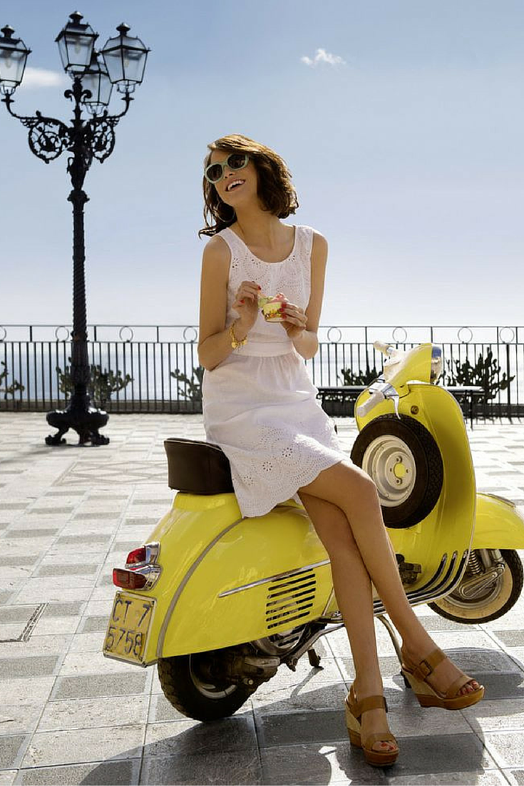 Summer fashion    Light pink lace dress, Vespa & Ralph by Ralph Lauren RA5160 oval #sunglasses. Pic: ysvoice. http://www.smartbuyglasses.com/designer-sunglasses/Ralph-by-Ralph-Lauren/Ralph-by-Ralph-Lauren-RA5160-polarised-112237-220576.html