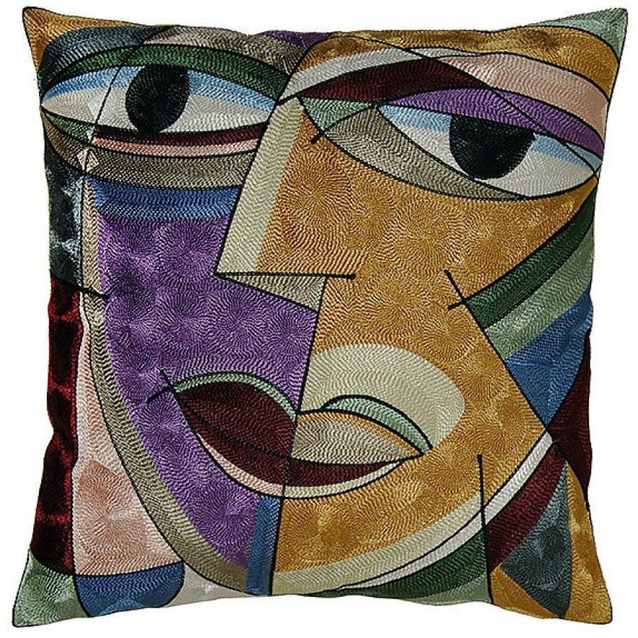 Picasso inspired down filled throw pillow picasso throw pillows
