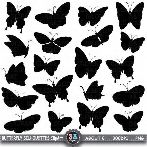 Butterfly Silhouettes Clip Art Quot Butterfly Silhouettes Quot Clip Art Cute Butterfly Black Butterflie Silhouette Butterfly Silhouette Clip Art Clip Art
