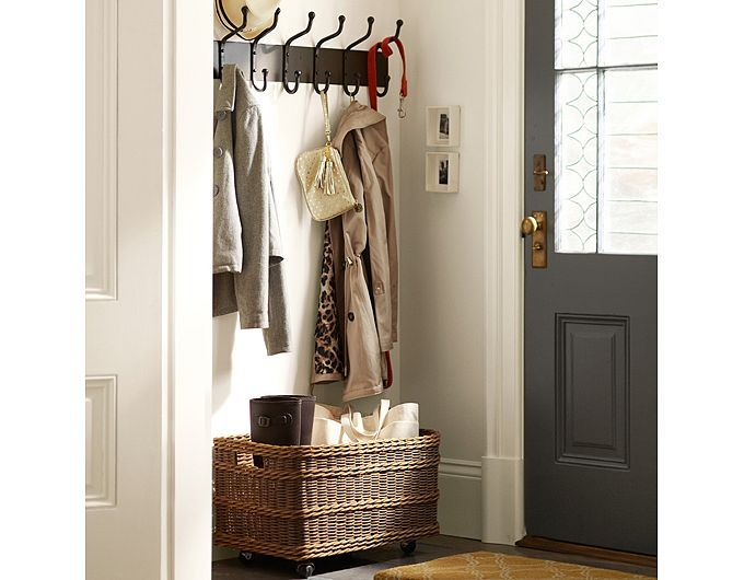 Lovely Entry Shelf with Hooks and Baskets