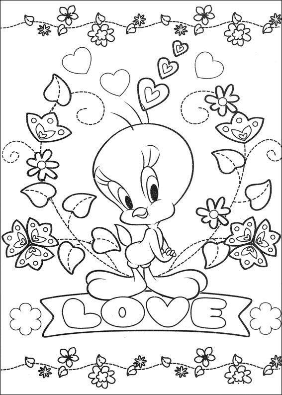 Muitos desenhos do Piu Piu Looney Tunes para colorir, pintar ...