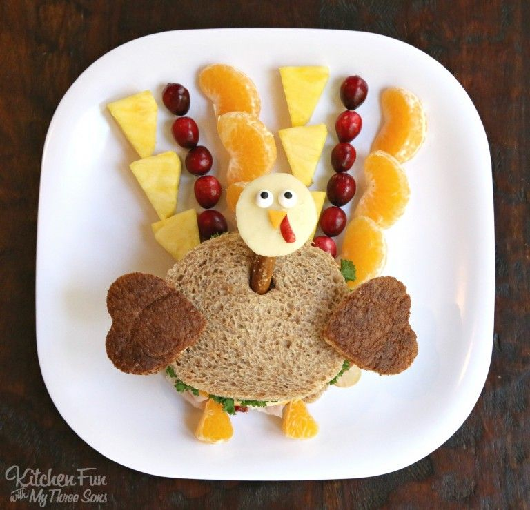 thanksgiving turkey kids lunch a fun and healthy sandwich that the kids will love
