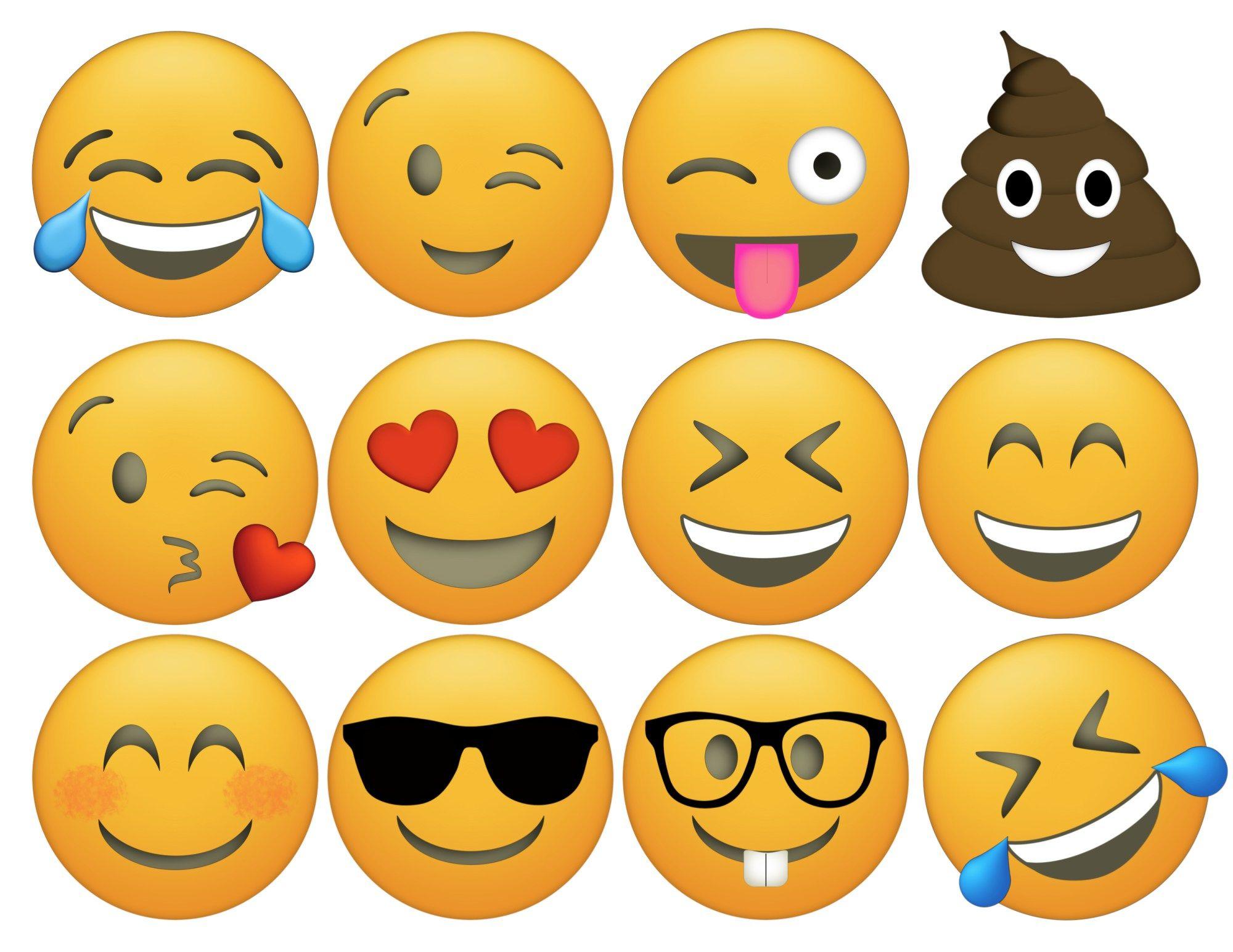Emoji Cupcake Toppers Free Printable emotion