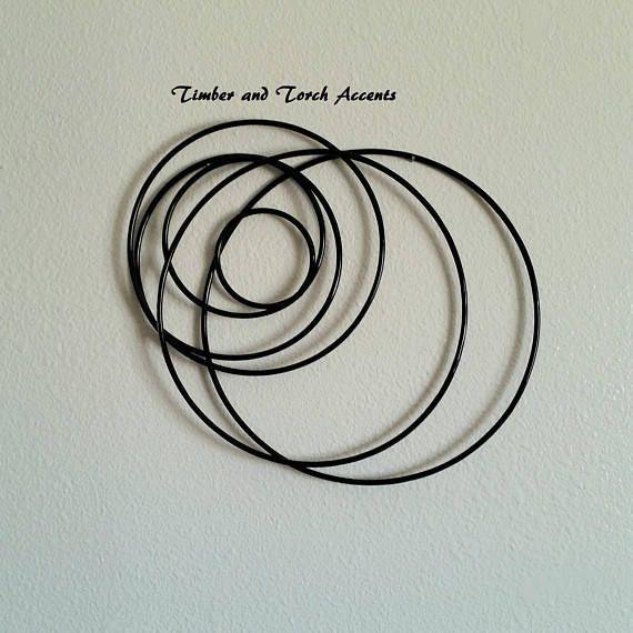 Geometric circles Metal wall decor3d metal wall art | Metal Tree ...