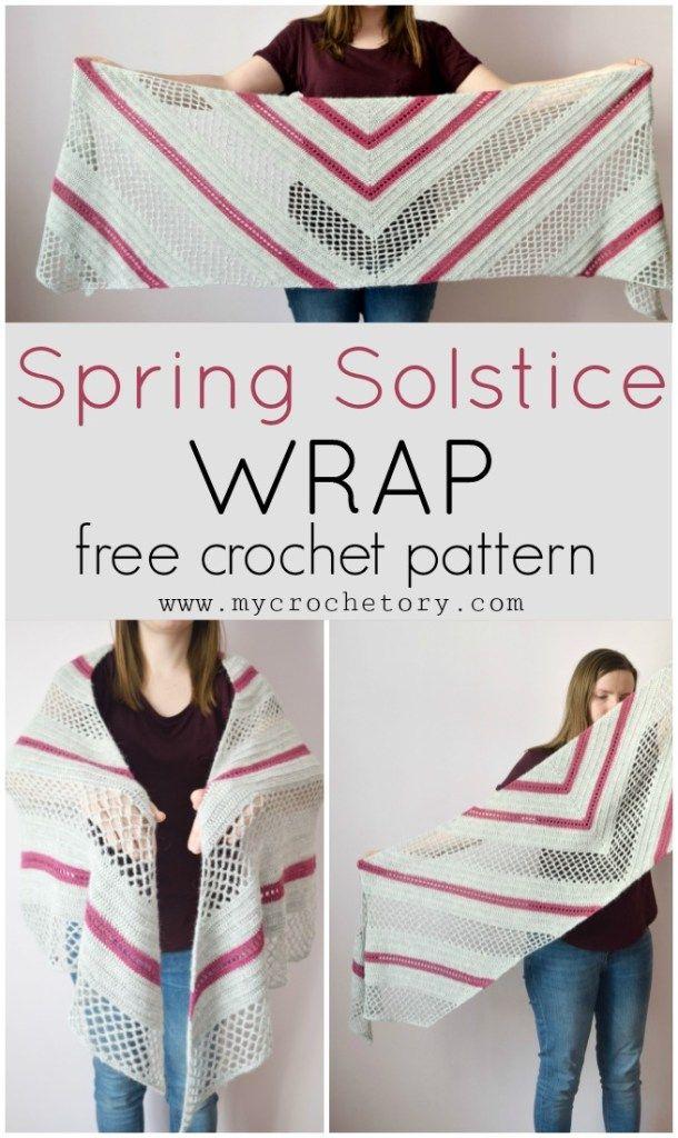 Spring Solstice Wrap - crochet pattern part 1   Rebozos, Chal y ...