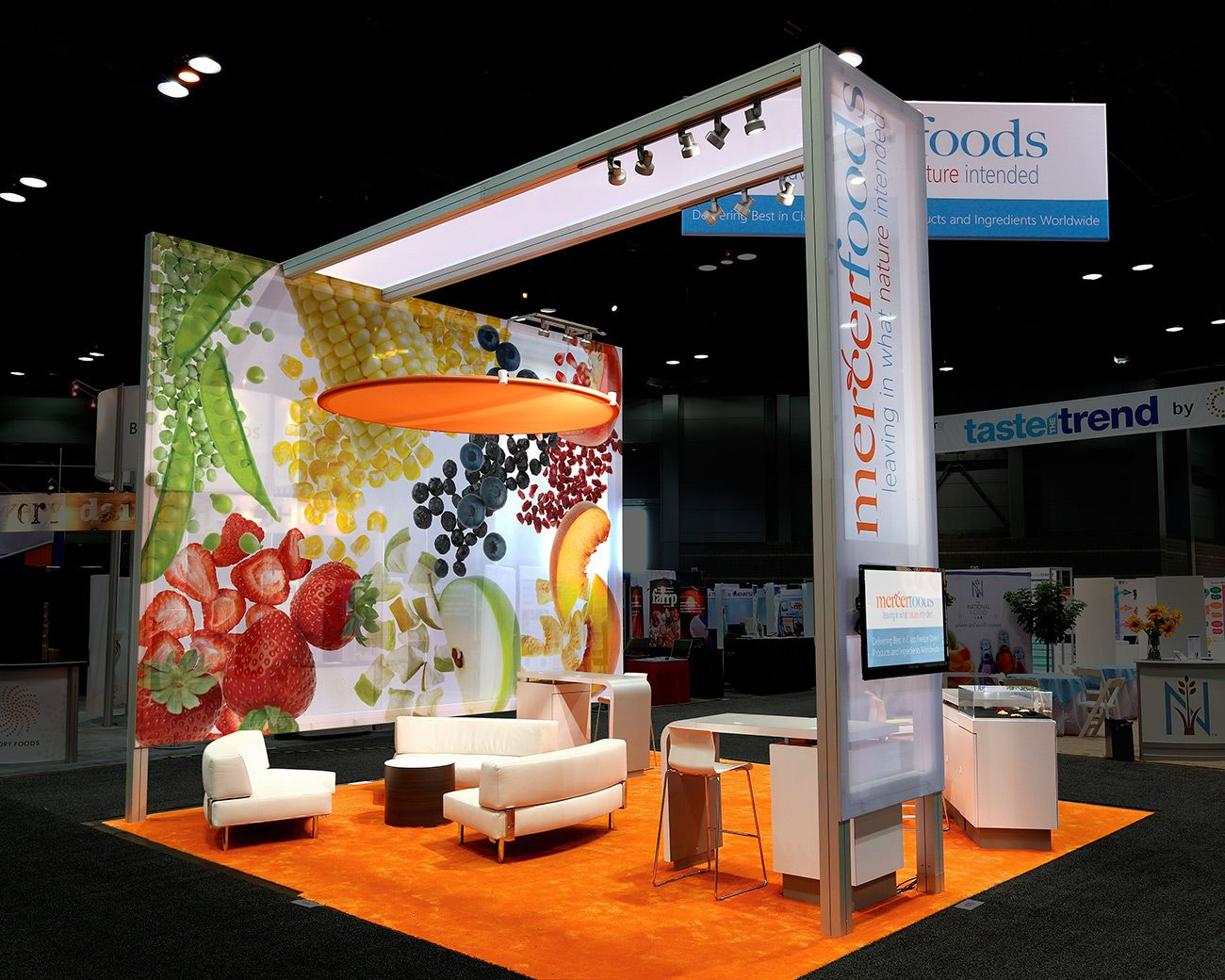 Trade Stands Hickstead : Mercer foods mg design trade show exhibits meetings