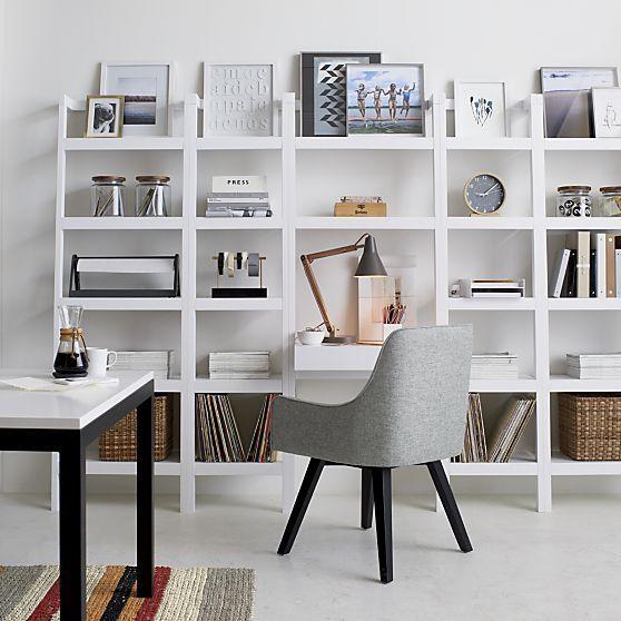 sawyer white leaning desk