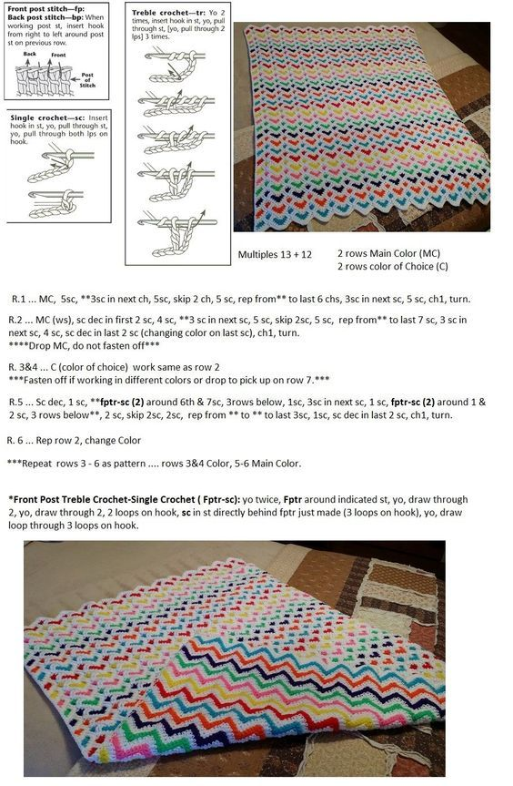 Reversable Heart / Chevron Blanket Stitchy OMG!: | Crochet ...