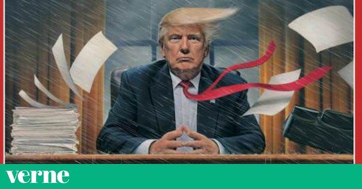 Tanto la cubierta como el artículo central de la revista se centran en el caos que vive la nueva Casa Blanca.