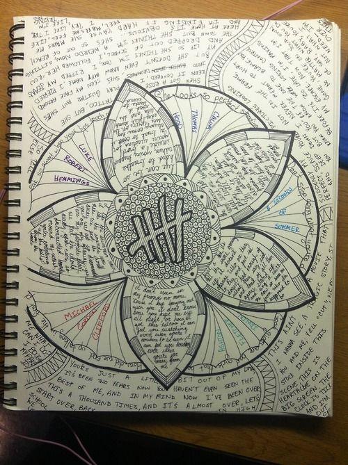 5sos lyrics drawings 86 notes