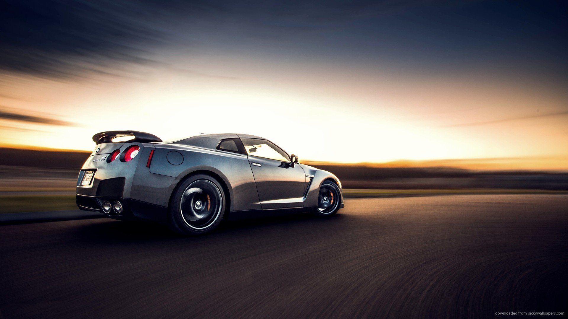 Nissan gtr motion blur desktop wallpaper picture