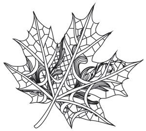 Lacy Leaf | Urban Threads: Unique and Awesome Embroidery Designs