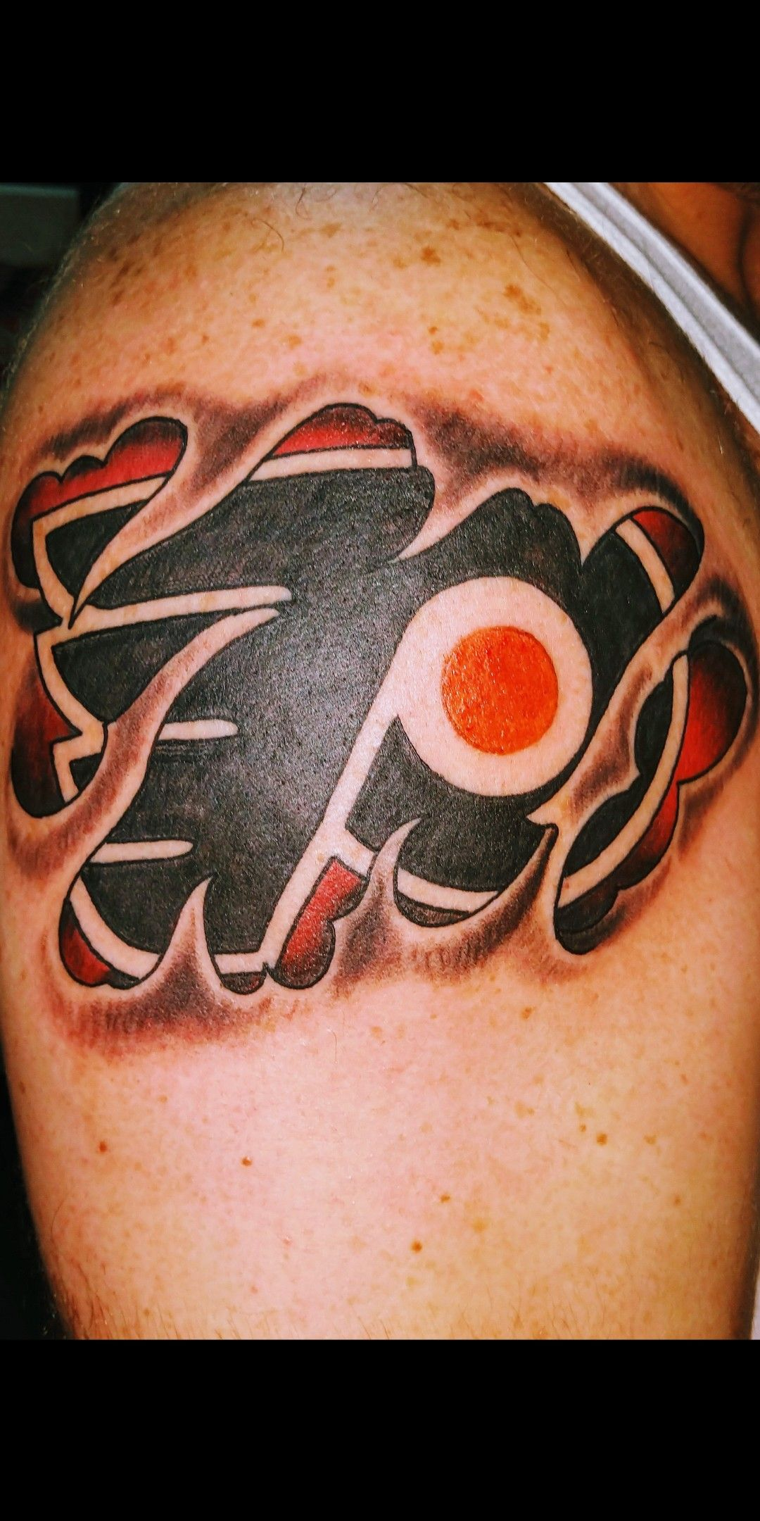 Pin by Letsgoflyers on Flyers Chicago flag tattoo