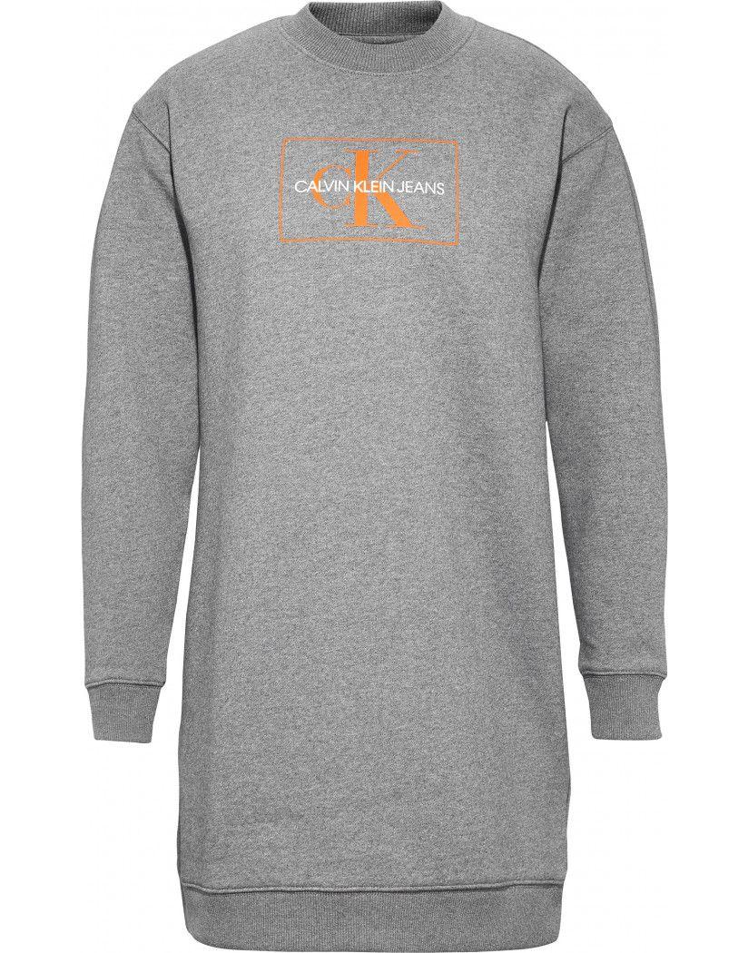 3d5cbb256 CK Jeans Women s Graphic Sweatshirt Dress - Mid Grey Heather