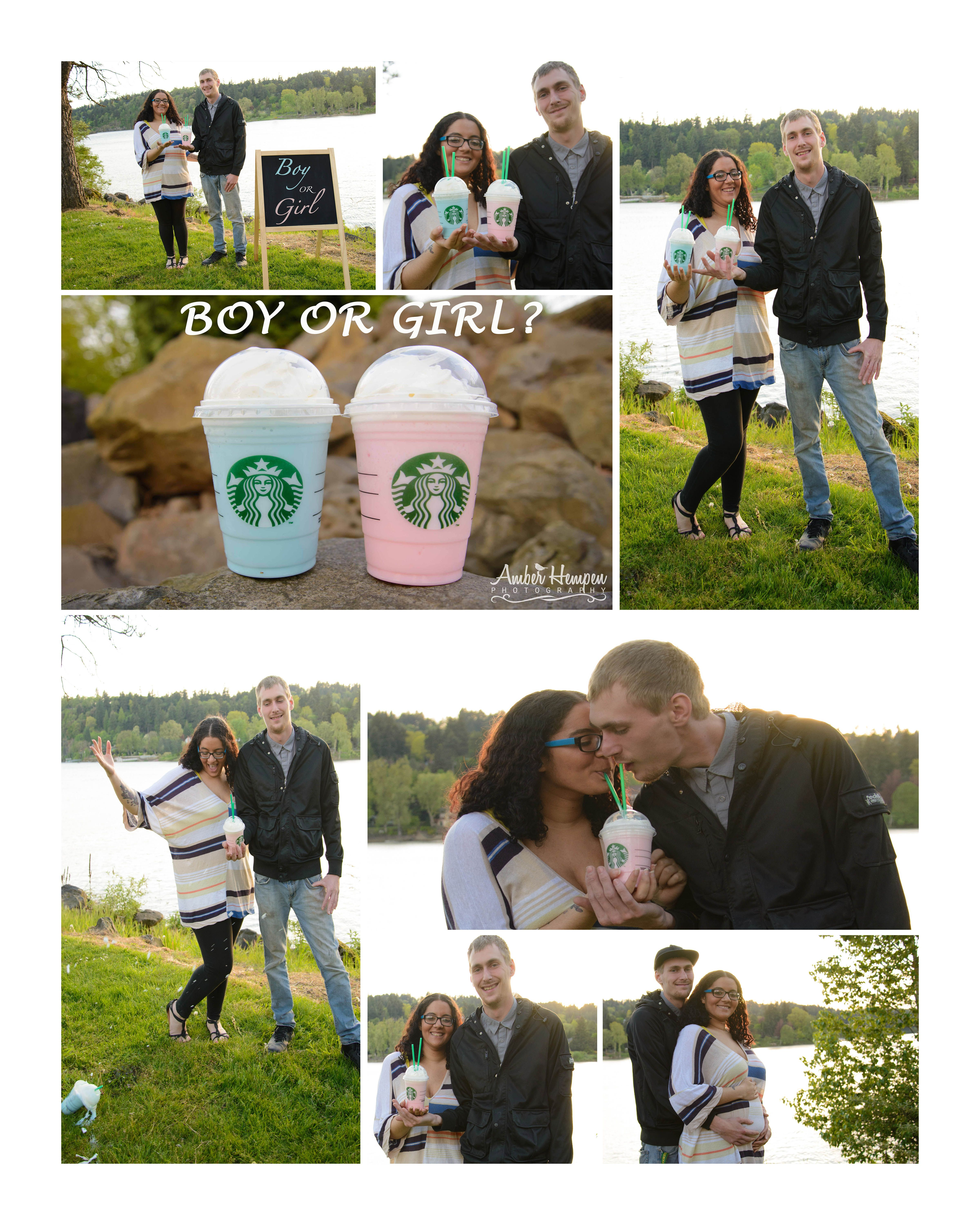 Starbucks Gender Reveal by Amber Hempen graphy Portland