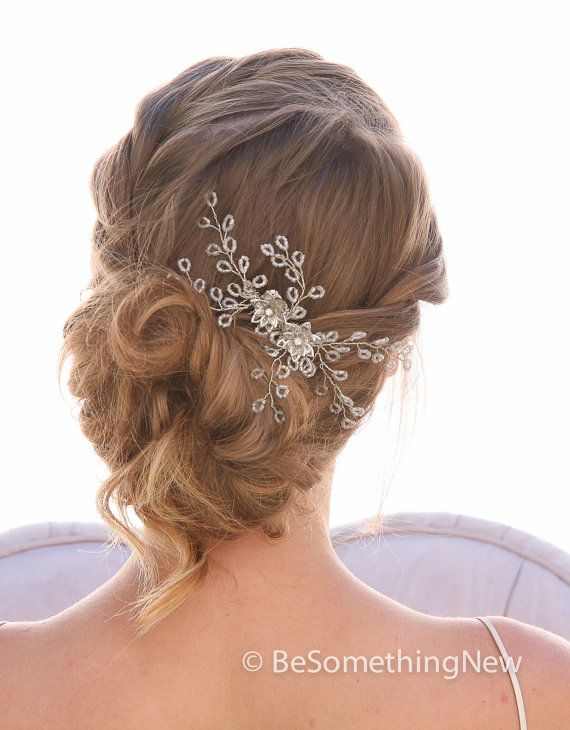 spray of beads wedding hair comb wedding by besomethingnew on etsy