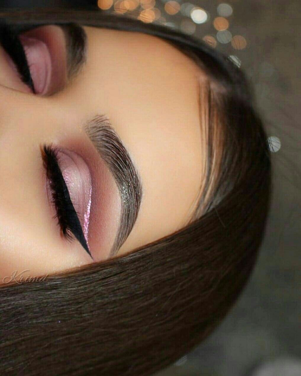 Mauve eye shadow