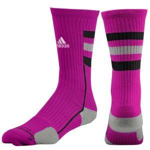 5532eae73 adidas Team Speed Crew Sock - Men's - Basketball - Accessories - University  pink/Aluminum/White- size medium or large