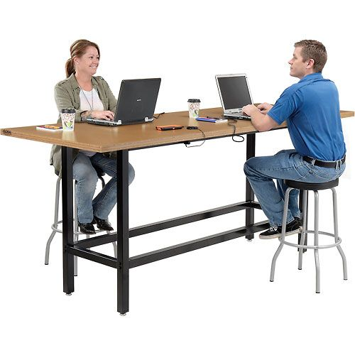 Bar Height Computer Workstation Table, Counter Height Desk