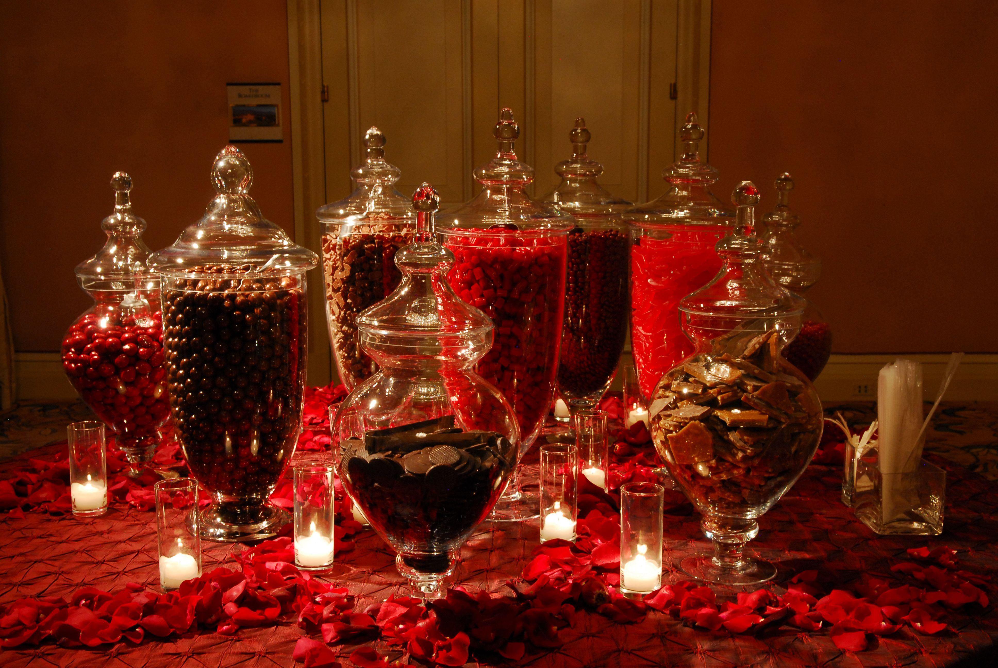 Red candy bar via Gianna pany Stylish Events