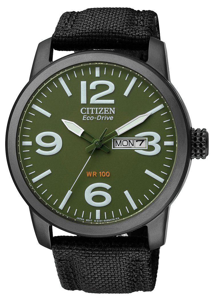 Citizen BM8476-15XE - Reloj analógico de cuarzo para hombre, correa de nailon color negro