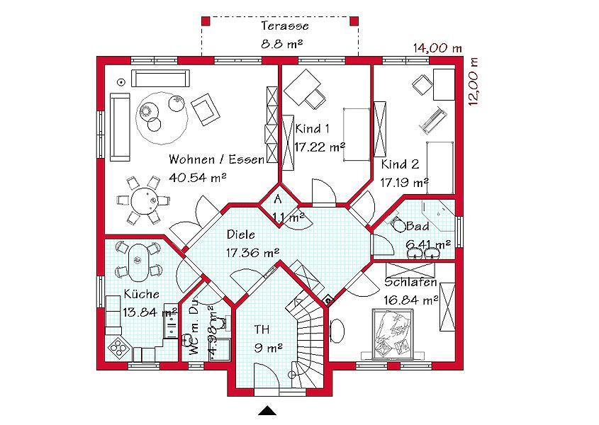Aufteilung Living Floor Plan Pinterest Grundriss