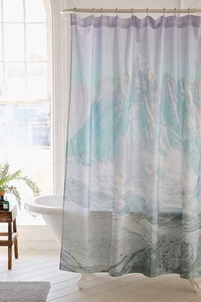 Icy Mountain Shower Curtain Curtains Bathroom Shower Curtains